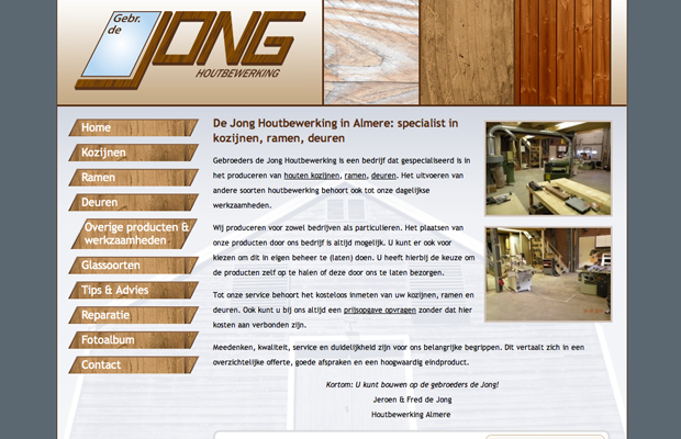 De Jong Houtbewerking screenshot 1